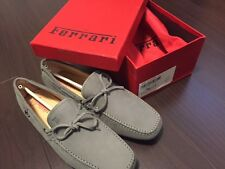 TOD'S FOR FERRARI GOMMINO DRIVING SHOES IN SUEDE Grey Men UK 10 (US 11)