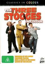 THE THREE STOOGES IN COLOUR - 2 DISCS NEW & SEALED DVD