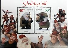 2000 ICELAND CHRISTMAS STAMPS SHEET OF 2 ELF ELVES