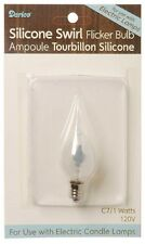 CANDLE BULB, Flickering, Silicone Swirl Covered Bulb 1 watt #6201-64