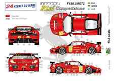 "[FFSMC Productions] Decals 1/43 Ferrari F-430 LMGT2 ""Team RISI"" (LM 2009)"