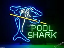 New Rare POOL SHARK BILLIARDS GAMEROOM HANDCRAFT NEON SIGN BAR LIGHT MAN CAVE