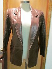 Anne Klein II Brown Leather Jacket Size XS