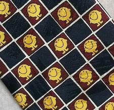 MR MEN VINTAGE 1990'S TIE MARKS & SPENCER ROGER HARGREAVES BOOKS MR HAPPY NAVY