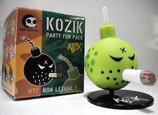 """GREEN Bomb 1.5"""" mini vinyl figure w/ Stand - Kozik WTF Party Fun Pack - Toy2R"""