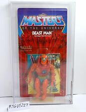 MOTU, Beast Man, 8-Back, AFA graded, Masters of the Universe, MOC, sealed He Man