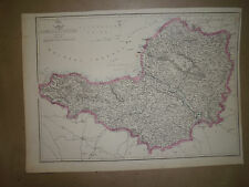 Somersetshire vintage map E.Weller Weekly Dispatch atlas Circa 1863 Framed20more