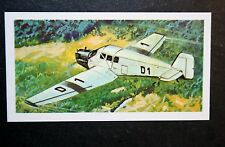 JUNKERS F-13  Aeroplane   Colour Action Card ## VGC