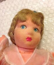 "13.5"" Vintage Lenci Felt Doll ""Loretta"" AI1283 Aers Lenci Torino Italy"