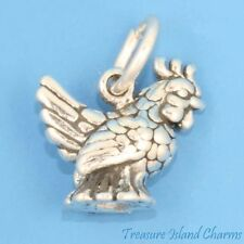 FRENCH HEN CHICKEN 12 DAYS OF CHRISTMAS 3D .925 Solid Sterling Silver Charm