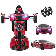 Transforming Autobot Car 2.4G Radio Remote Control RC Toy Transformer Rotatable