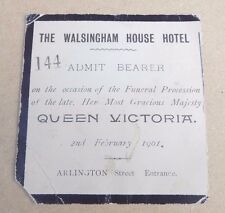 Queen Victoria Funeral Procession Ticket 1901