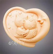 Loving Owls  S281 Silicone Soap mold Craft Molds DIY Handmade soap mould