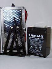 UPG 6VOLT 4.5AH RECHARGEABLE SEALED LEAD ACID SLA BATTERY & 6V SOLAR CHARGER