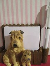 Sharpei Desk or magnet memo note holder #36