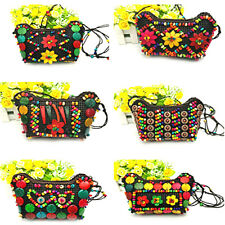 Coconut shell handmade beaded craft package  shoulder coin purse wallet fm