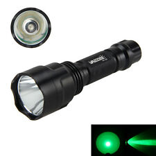 Tactical C8 T6 LED Green Light 18650 Flashlight Torch Hunting Lamps Light