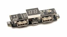 Dual USB 5V 1A/1.5A Mobile Power Charger board module 3.7V to 5V / LCD - USA