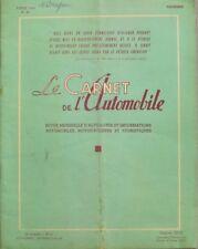 Le carnet de l'automobile n°60 - 1956 - Notre pétrole quotidien - L'Afrique Rare