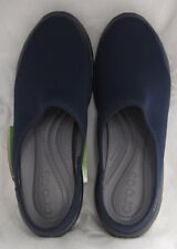 NEW CROCS WOMENS DUET BUSY DAY 2.0 SATYA MULE NAVY GRAPHITE WOMENS SIZE 6