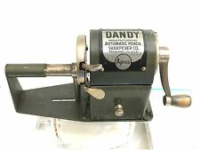 VINTAGE DANDY DESK/TABLE AUTOMATIC METAL PENCIL SHARPENER.
