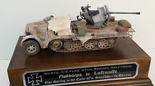 Built Sd.Kfz. 7/2 FlaK 37mm German Anti-aircraft Half-track Dragon 1/35