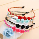 1pcs Floral Headband Hair Accessories Flower Beautiful Womens Girls Hair band