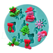 Christmas 3D Silicone Candy Cake Baking Chocolate Fondant Decorating Mold 67ma