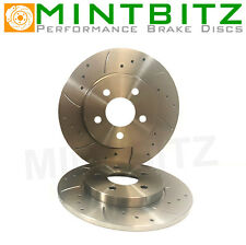 VAUXHAL Vectra B 2.2 TD DTi 9/00-02 Drilled And Grooved Rear Brake Discs
