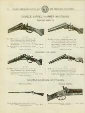 Catalog Page Ad  Double Barrel Hammer Shotguns Fremont Arms Co. Taxidermy  1902