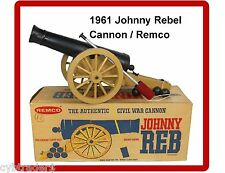 1961 Remco Johnny Rebel Cannon  Refrigerator / Tool Box Magnet