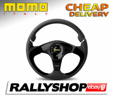 Momo NERO Steering Wheel CHEAP DELIVERY WORLDWIDE race rally Ø 350 mm
