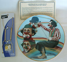 ROCK THE CRADLE Fantasy World of CLOWNS 1983 PLATE Oberstein NIB CIRCUS Rainbow