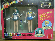 PETIT SOLDIER NEPTUNE AND URANUS figures with wands Rare Sailor Moon dolls