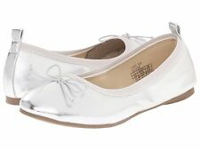 Kenneth Cole Reaction Silver Ballet Flat Youth Girls Size 4