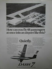 2/1974 PUB DE HAVILLAND AIRCRAFT OF CANADA DASH 7 AIRLINER ORIGINAL AD