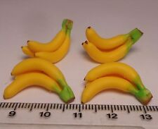 1:12 Scale 4 Bunches Of 3 Bananas Dolls House Miniature Fruit Accessory