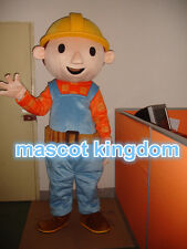 New Bob The Builder Mascot Costume Cartoon Outfit Cosplay Dress Free Shipping