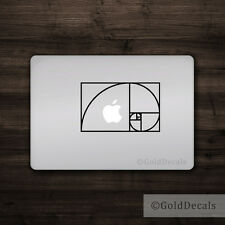 Fibonacci Spiral - Mac Apple Logo Cover Laptop Vinyl Decal Sticker Math Golden
