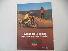 advertising Pubblicità 1984 MOTO LAVERDA 125 LB SABBIA
