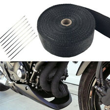 """Black Titanium Exhaust/Header Heat Wrap, 2"""" x 50' Roll With Stainless Ties Kit"""