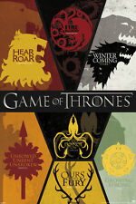 Game of Thrones Sigils Lannister Stark Greyjoy Targaryen Westeros Never Hung