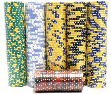 200 Piece Poker Chips Set Blackjack Composite Clay 11.5g Assorted -High Quality