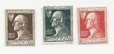 1927 Italia Regno Alessandro Volta 3 valori nuovi