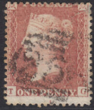 "1857 1d PENNY RED STAR c9 PIASTRA 40 LETTERE ""T-G"" USATO"