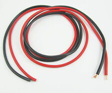 2pcs 1M 3.3Ft Black Red 1square Heatproof/Low Resistence Soft Silicon Wire Cable