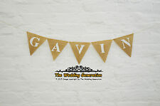 Name Personalized Birthday Banner Party Name Burlap Bunting Hessian Garland