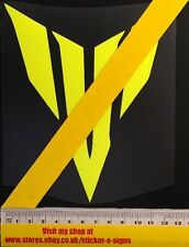 1x Fluro Yellow MT-07 Large Logo Sticker 150mm Tall Suitable For Yamaha Bikes