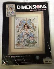 Dimensions Stamped Cross Stitch Kit Peace Angel 12 by 16 Elizabeth Brownd New