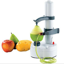 White Automatic Apple Pear Potato Peeler Corer Slicer Fruit Home Kitchen Dicer